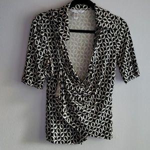 Diane von Furstenberg Wrap Style Top